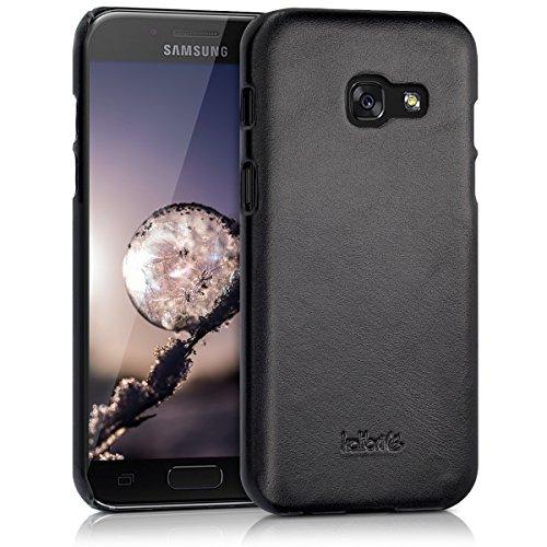 kalibri-Echtleder-Backcover-Hlle-fr-Samsung-Galaxy-A3-2017-Leder-Case-Cover-Schutzhlle-in-Schwarz