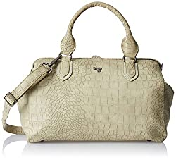 Baggit L Winged1 Croco Womens Handbag (Beige)