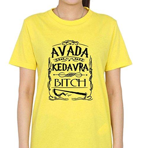 Xiinwcang Damen T-Shirt Lässige Lose Lady-Fit Rundkragen Tee Pullover Frauen Casual Classics T Tops Kurzarm Gelb1 3XL -