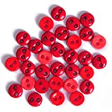 Impex Mini Buttons for Crafts Round Red 2gms