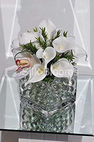artificiel Blanc Calla et Cymbidum Orchid Table