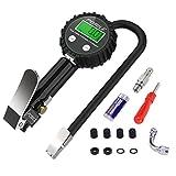 POMILE Digital Reifendruckprüfer und Reifenfüller, Reifenfüll Messgerät Manometer-Messbereich 0-200 PSI, Präziser Reifendruckprüfer für Auto Motorrad PKW LKW