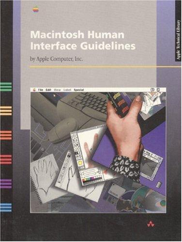 Preisvergleich Produktbild Macintosh Human Interface Guidelines (Apple Technical Library)