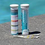 BAYROL Quick Test - 50 x Pool Teststreifen für pH Wert/Chlor / Alkalinität/Algizid
