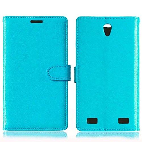 Solid Color PU-Leder-Kasten mit Silikon-Abdeckung Magnetic Kickstand Case für ZTE ZMax2 Z958 ( Color : Rose , Size : ZTE ZMax2 Z958 ) Blue