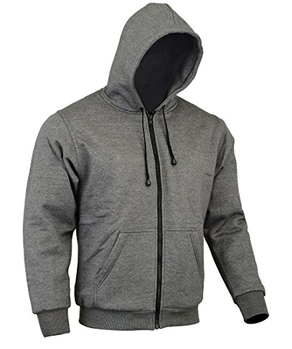 Bikers Gear The CrossFire - Sudadera con capucha para motocicleta, color gris,...