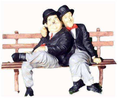 Stan & Ollie - Dick und Doof auf Bank für den Garten Duo-bank