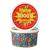 Hama 210-50 - 3000 Perlen, pastell, gemischt, in der Dose