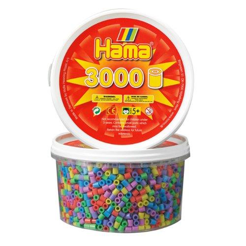 Hama 210-50 - Cuentas para planchar (3000 unidades), colores pasteles mezclados