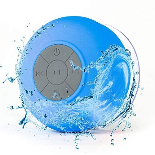 Jinxuny Bluetooth-Duschlautsprecher, kabellose Micro-Lautsprecher Wasserdichte Freisprecheinrichtung-Bad-Dusche-Mikrofon-Lautsprecher mit Saugnapf für Badezimmer, Schlafzimmer, Pool, Strand, Zuhause -