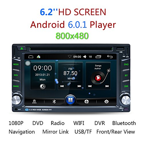 Excelvan Android 6.0 Reproductor MP5 para Coche (1GB RAM 16GB ROM), 6.2