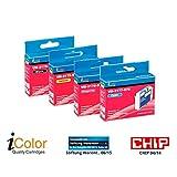iColor Multipacks kompatible Druckerpatronen für Tintenstrahldrucker, Epson: ColorPack für EPSON (ersetzt T1636 / 16XL), BK/C/M/Y (Tinte)