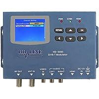 'HD-LINE HD6990Modulator Digitale DVB-T LCD-Display 2,4HDMI RCA AV blau