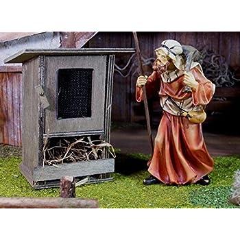 Größe Für Weihnachtskrippe. B9 H7 T5cm Hasenstahl aus Holz mit Alugitter