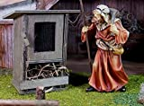 Hasenstahl aus Holz mit Alugitter. Größe: H10 B6cm. Für Weihnachtskrippe.