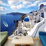 3D Fototapete Griechenland Ägäis Mittelmeer Große Wandbilder Wohnzimmer Schlafzimmer Vliestapete De Parede 3D XXL 300X658CM