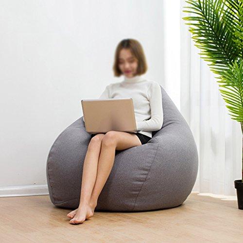 Canapé Lounger Pouf Pouf Chaise longue Créative Amovible et Lavable Petit Appartement Chambre (Couleur : Gris foncé, taille : S)