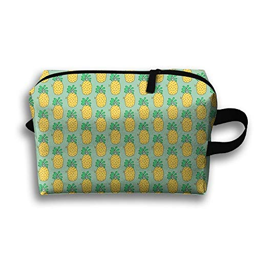 Pineapple Fish Popular Funny Canvas Makeup Bag Large Cosmetic Bag Carry Case -