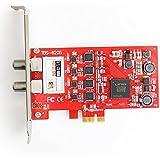 TBS®6205 Carte PCIeTV Tuner DVB-T2 / T / C Quad TV TV Tuner – Carte Professionnelle 4 tuners TNT et câble – Nouvelle version de la TBS6285 - Compatible avec Windows et Linux pour Recevoir les Chaînes télé TNT et du Câble - DVB-T2/T/C Quad TV Tuner PCIe Card
