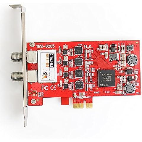 TBS ® 6205 DVB-T2/T/C cuádruple tarjeta capturadora con interfaz PCI-Express-Ideal para la observación de SD y HD canales con soporte completo para HDTV
