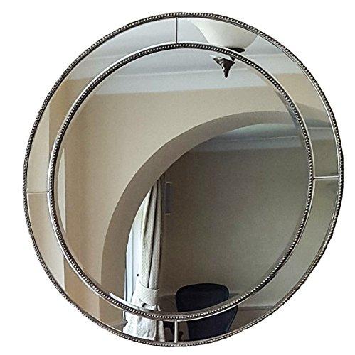 Slate & Rose Florence Perles biseauté rond Mirror-diameter 90 cm