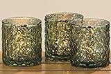 Windlicht Sulma 3sort H8cm grün Glas durchgefärbt