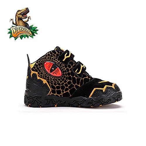 Dinosoles 3D T-Rex Dinosaurus Hi-Top Shoe(Children/Toddler/ Little kid) Schwarz