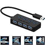 Sabrent USB HUB - 4-Port -USB 3.0 Hub mit einzelnen Power Schalter und LEDs (HB-UM43)
