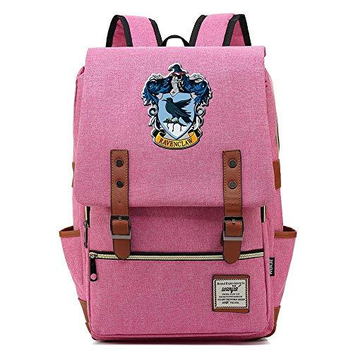 Mochila Harry Potter, Hogwarts College School Bolsa Deocio Portátil Mochila Boy Girl Bookbags Travel...