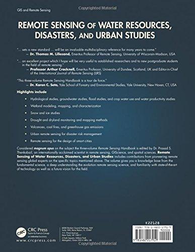 Remote Sensing of Water Resources, Disasters, and Urban Studies: Volume 2 (Remote Sensing Handbook)