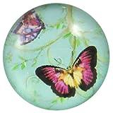 Fashion Jewellry Cabochons | Glasnuggets | Schmucksteine | Rund, 25.0mm, Schmetterlinge, 4 Stück