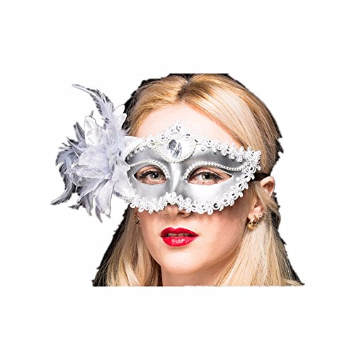 Maskerade,Maske Mädchen Kind Prinzessin Party Requisitengesicht Make-up Tanz Maske Halbes Gesicht Liliensilber Masquerade