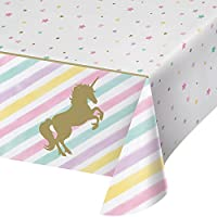 Creative Party Unicorn Sparkle Plastic Tablecover All Over Print