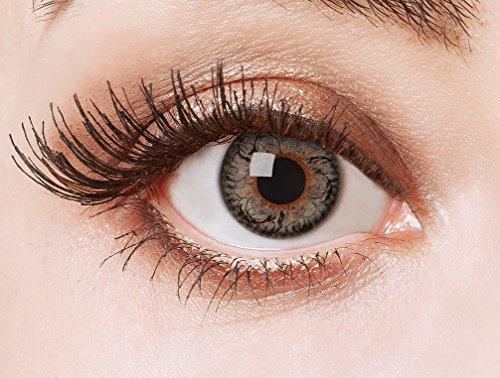aricona Farblinsen schwarze Cosplay Circle Lenses farbige Kontaktlinsen ohne Stärke farbig bunte Jahreslinsen für den Big Eyes Effect 12 Monatslinsen für Manga Puppenaugen