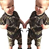 Toddler Newborn Baby Infant Boys Girl Camouflage Romper Jumpsuit Outfits Clothes-Culater (100)