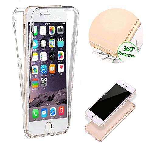 Klar TPU Hülle für iPhone SE,Silikon Hülle für iPhone 5S,Moiky Stilvoll Einzigartig Ultra Dünn 360 Grad Vorder und Rückseiten Clear Durchsichtig Ganzkörper Koffer Schutzhülle