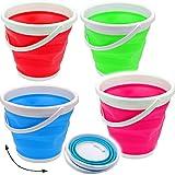 Eimer -  bunter Farbmix  - faltbar & klappbar - Silikon & Kunststoff / Klappeimer - 10 / 12 Liter Wassereimer & Putzeimer - Badezimmer / Küche / Bad - faltb..