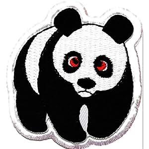 Panda Pièce ' 5,5 x 6 cm ' - Écusson brodé Ecussons Imprimés Thermocollants Broderie Sur Vetement Ecusson Catch The Patch