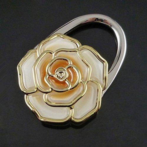 Danapp Crochet à crochet pliant en forme de rose (Marron clair)