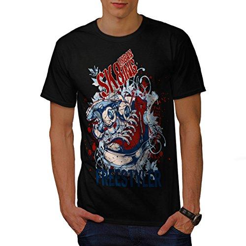 Städtisch Schlittschuhläufer Straße Stadt Skateboard Herren S T-shirt | Wellcoda