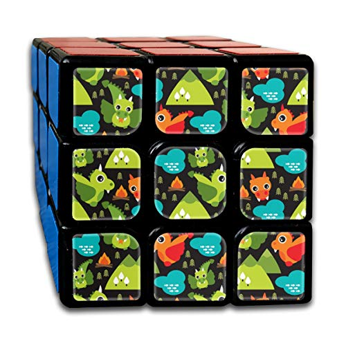 Cute Baby Dragon Fantasy Woodland for Boys Print Magic Speed Cubes Sets 3x3x3 Puzzles Toys Solid & Durable (56mm)