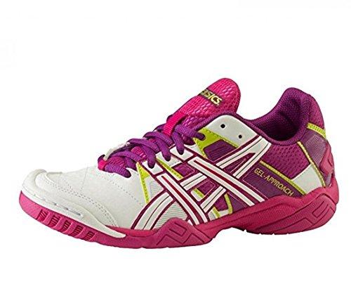 ASICS - Scarpe, Gel Approach 2, da donna bianco/viola/rosa - weiss/purple/pink