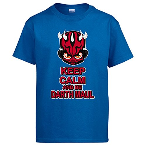 Camiseta Star Wars Keep Calm and be Darth Maul - Azul, 12-14 años