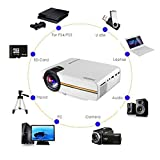 Home Theater Projector, OCDAY 1200 Lumens LED Mini Multimedia Video Projector Po