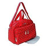 GMMHL 2 tlg Baby Farbe Wickeltasche Pflegetasche Windeltasche Babytasche Reise Farbauswahl (rot)