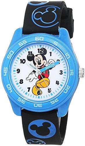 Disney Jungen Analog Quarz Uhr mit Gummi Armband MKR9002