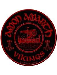 Amon amarth parche–Vikings circular–Amon amarth Patch–tejida & licencia oficial..