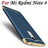 AEETZ Ultra-Thin 3in1 Eventual Series 360-Degree Protection Back Cover for Xiaomi Redmi Note 4(Blue and Gold)