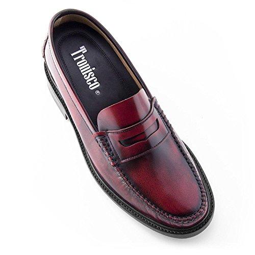 Foto de Zapatos de Hombre con Alzas Que Aumentan Altura Hasta 7 cm. Fabricados EN Piel. Modelo Arosa Burdeos 43