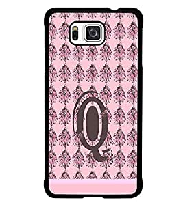 PrintDhaba Alphabet Q D-1341 Back Case Cover for SAMSUNG GALAXY ALPHA (Multi-Coloured)